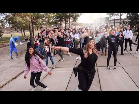 Amazing Dance FLASHMOB with FANS (Ellie Goulding - Outside) Music Video