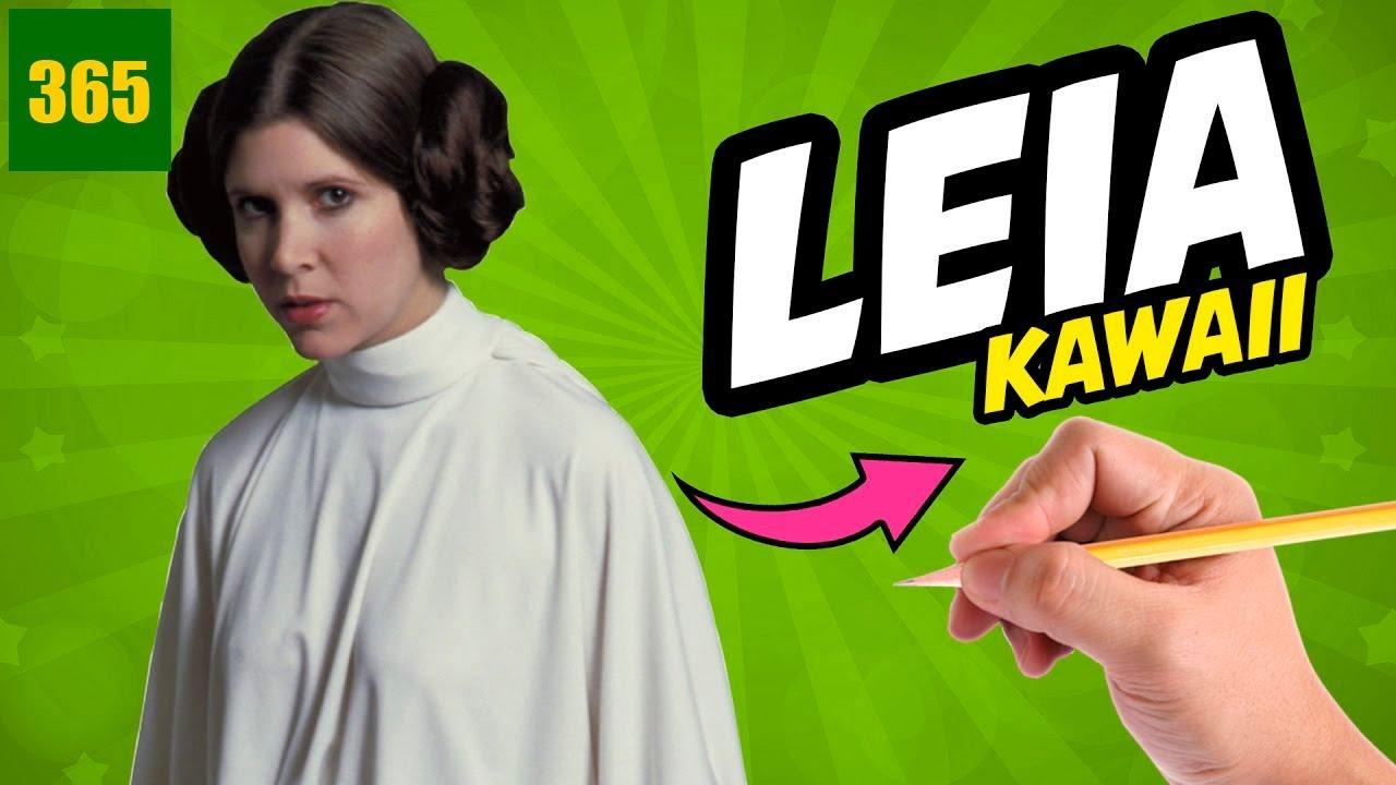 Comment dessiner leia star wars kawaii tape par tape - Dessin facile star wars ...