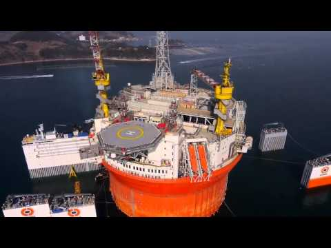 The voyage of the Goliat FPSO from Korea to Norway