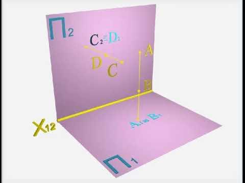 конкурирующие точки - начертательная геометрия
