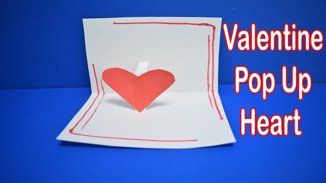 valentine's day pop up card origami pop up heart  youtube