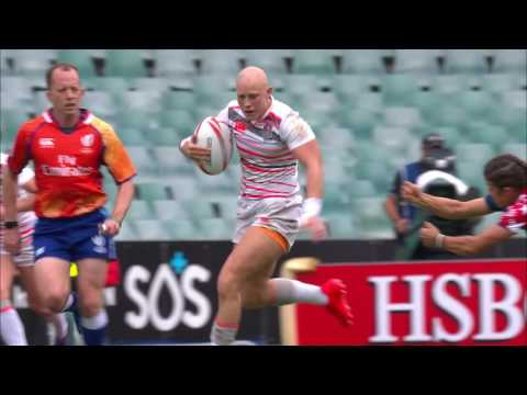 Fisher Smashes Through Defence To Score At Sydney 7s