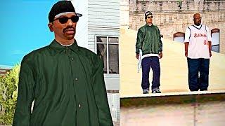 """Esto Ocurre si Vestimos a CJ como Ryder en la Mision """"Pier 69"""" de GTA San Andreas"""