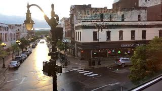 Wide-angle Shot Of Small Town  Stock Video