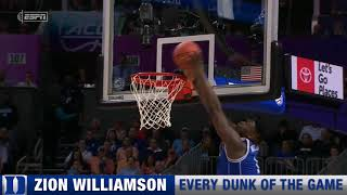 Zion Williamson Dunks from Duke vs. North Carolina March 15, 2019 thumbnail