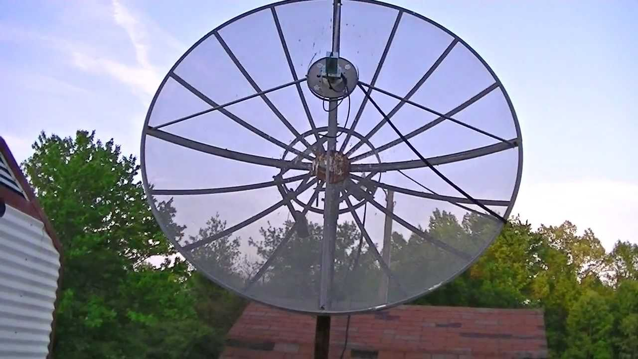 an old tv satellite dish from 1992 youtube