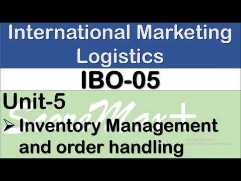 IBO-5 II Unit-5 II Inventory Management & Order Handling II Scoremax+