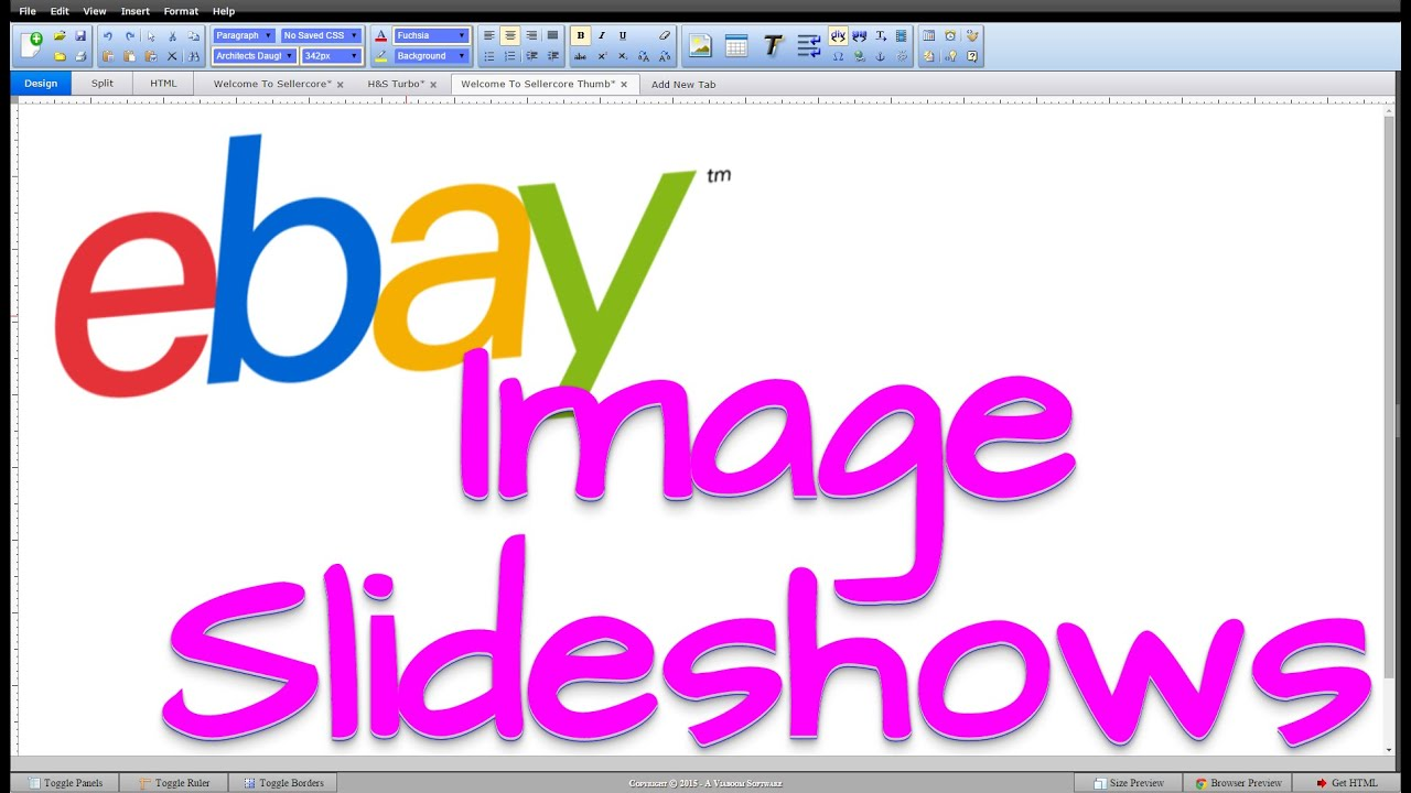 How To Add Image Slideshows To eBay Template Listings - YouTube