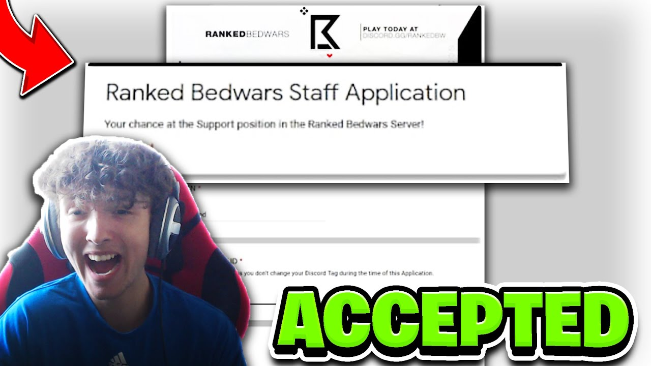 ACCEPTED for STAFF on a Screensharing Discord server! (Ranked Bedwars)