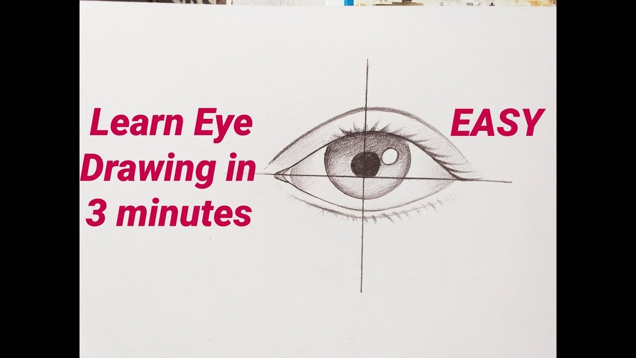 How To Draw An Eyeeyes Easy Step By Step For Beginners Eye Drawing Easy Tutorial With Pencil Basics