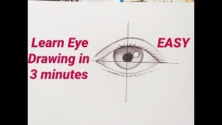 How to draw an eye/eyes easy step by step for beginners Eye drawing easy tutorial with pencil basics