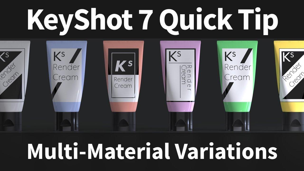 KeyShot Quick Tip: Multi-Material Variations
