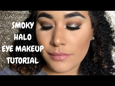 SMOKY HALO EYE MAKEUP TUTORIAL + GIVEAWAY