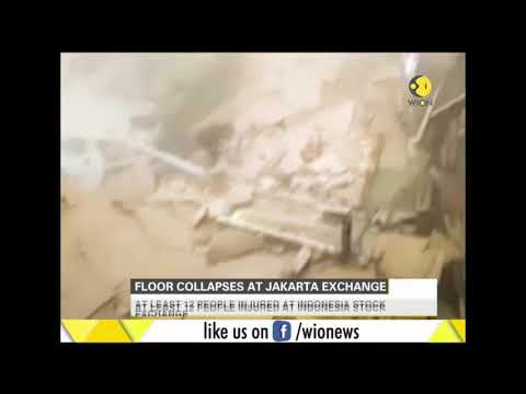 Floor collapses at Indonesia stock exchange in Jakarta