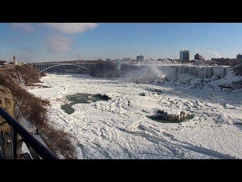Kälte Lässt Niagara Fälle Erstarren Youtube