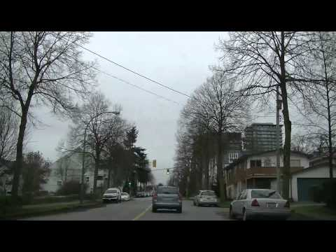 MARINE DRIVE in Vancouver BC Canada | Driving on UBC Highway | Fast Motion Video