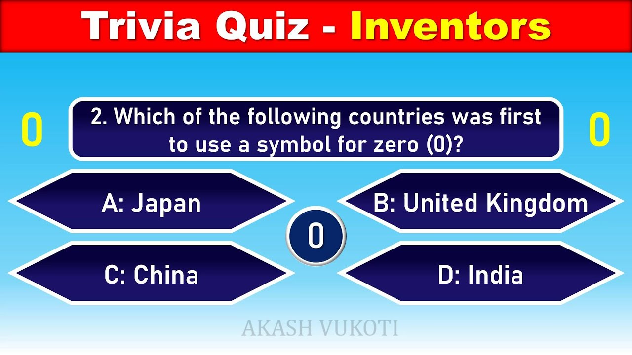 25 General Knowledge Questions With Answers Trivia Quiz Inventors Youtube
