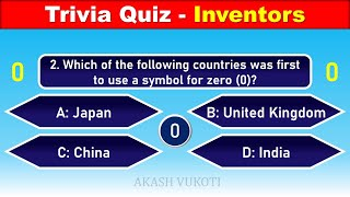25 General Knowledge Questions with Answers | TRIVIA QUIZ - INVENTORS screenshot 5