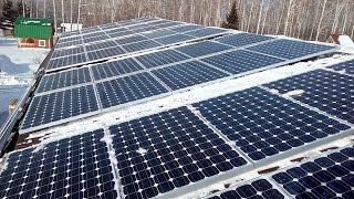 Солнечная электростанция 30 кВт в Новосибирской области. Обзор