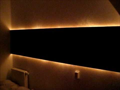Diy Hidden Indirect Wall Lighting Youtube