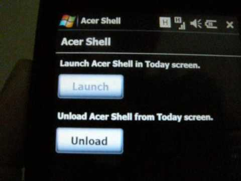 Acer Smart Handheld F900 Beneath the Shell UI Tour