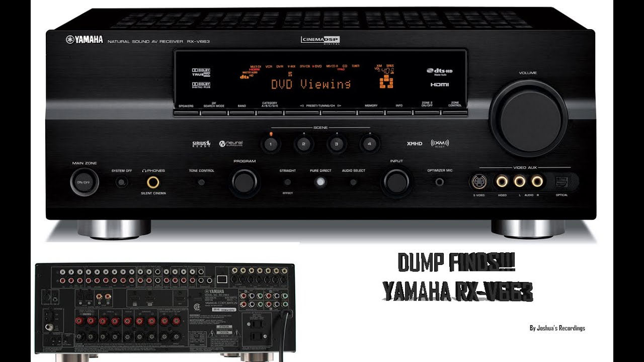 yamaha rx v663 dump finds youtube rh youtube com Yamaha RX V663 Remote RX-V663 Receiver Diagram Setup