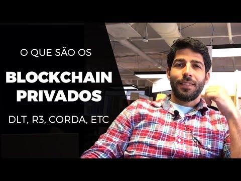 Aula Curso - O que é Blockchain Privado? DLT, R3 Corda, Hyperledger, IBM etc.