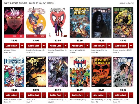 Marvel Comics previews - June 3 2015 [Periscope Replay]