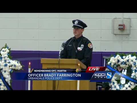 Fellow officer and lifelong friend mourns Officer Justin Martin
