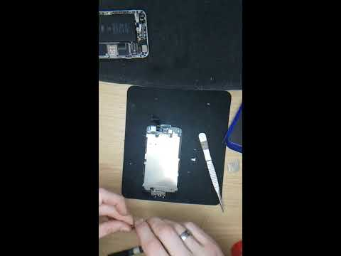 Apple Iphone 6 black - Cleaning and installing LCD screen.