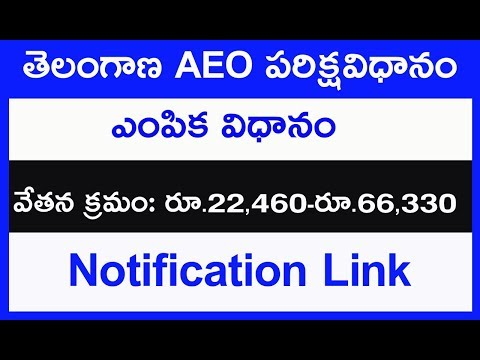 aeo exam patron salary || aeo job information in telangana