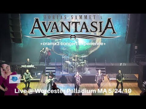 Avantasia LIVE Moonglow World Tour @ Worcester Palladium MA 5/24/2019 *cramx3 Concert Experience*
