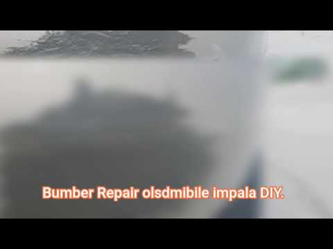 Bumper Repair oldsmobile impala DIY
