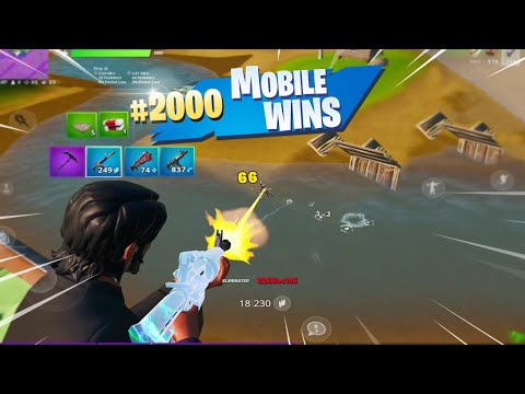 MY 2000th WIN ON FORTNITE MOBILE (Fortnite Mobile Battle Royale Gameplay)