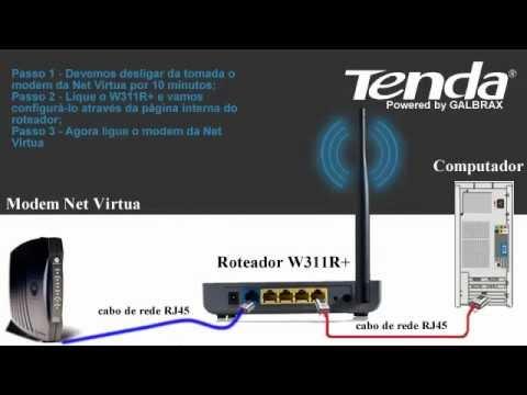 Configuração Modem Wireless W311R Tenda