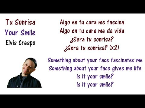 Elvis Crespo - Tu Sonrisa Lyrics English and Spanish - Translation & Meaning - Letras en ingles