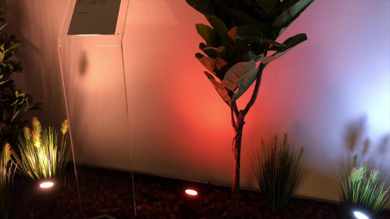 Philips Hue Outdoor Lampen Auf Der Light Building Youtube