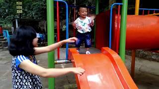 Siwarak Outdoor Playground - 20 months old Baby Playing at Outdoor Playground