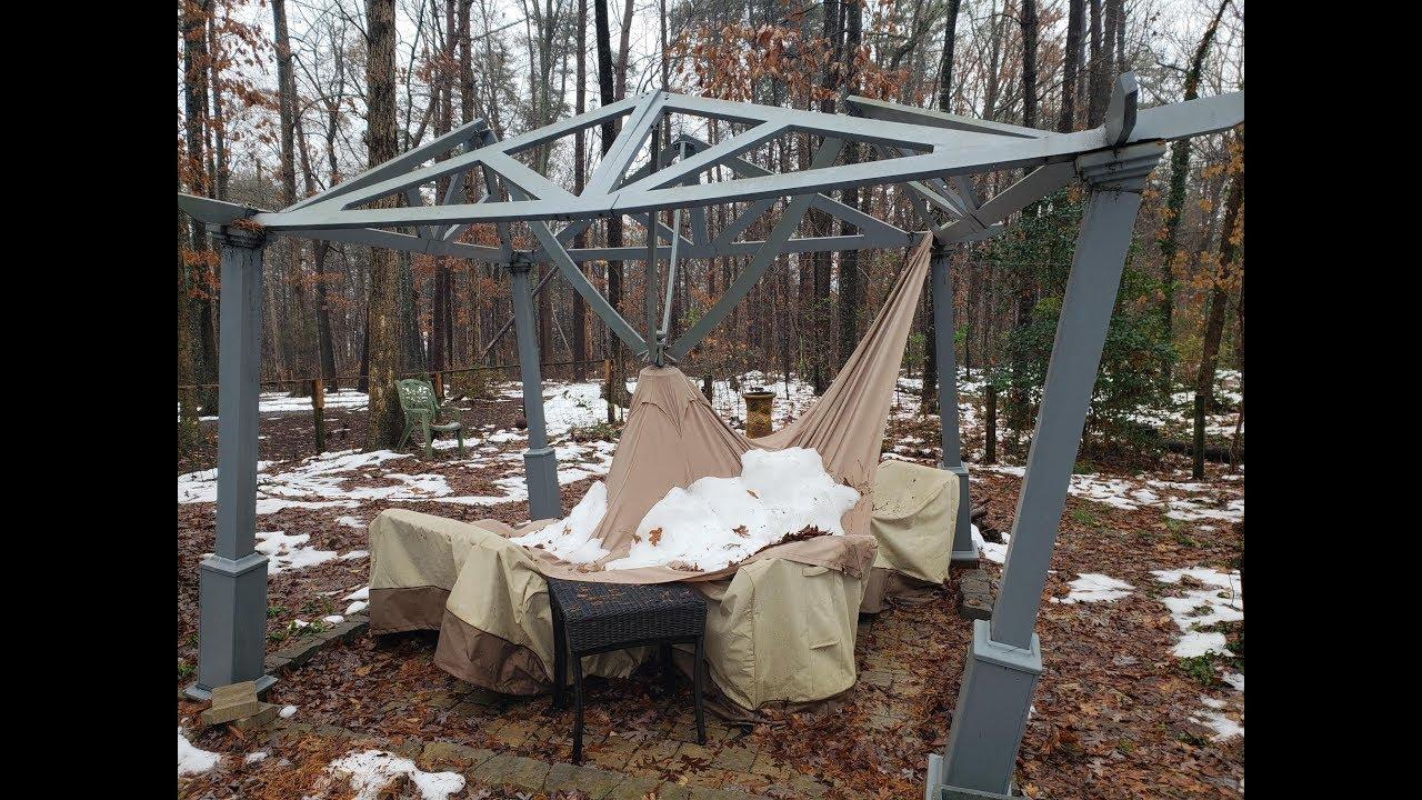 Building a Backyard Pavilion Part 1 - YouTube