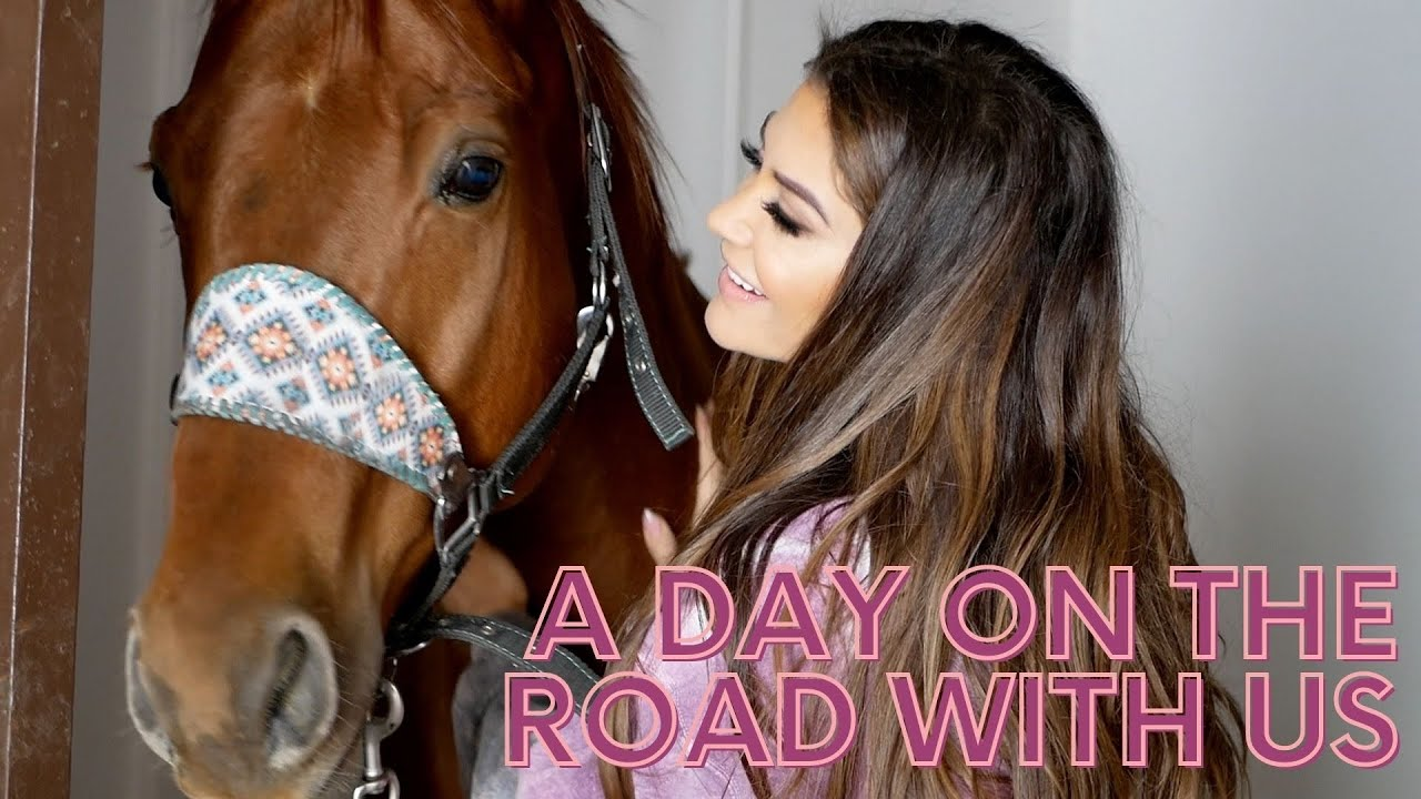 A DAY ON THE ROAD WITH US + HAULING ROUTINE