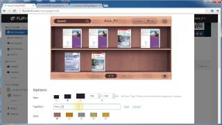 Build and embed Bookcase to webpage & view on mobile