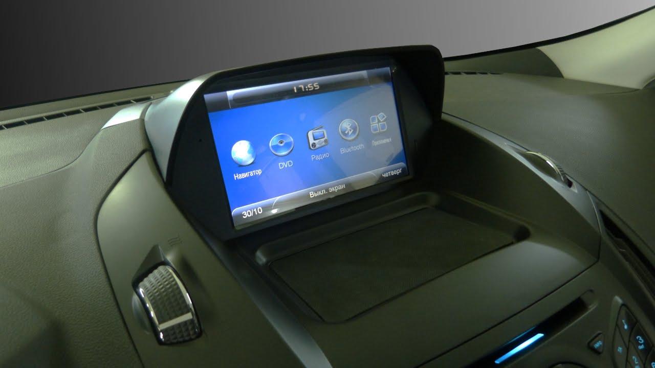 Штатная магнитола для Ford Kuga New 2013/2014/2015 - Roadrover. Установка и прошивка GPS навигации