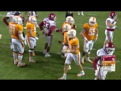 Oklahoma Sooners At Tennessee 2015 4th Qtr. Highlights no huddle