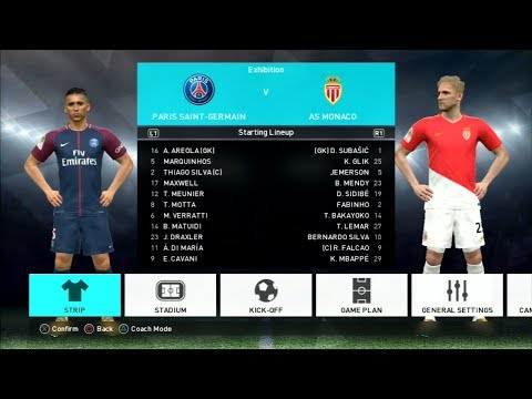 Pes 2018 Paris Saint Germain Vs As Monaco Gameplay Ps3 Hd Youtube