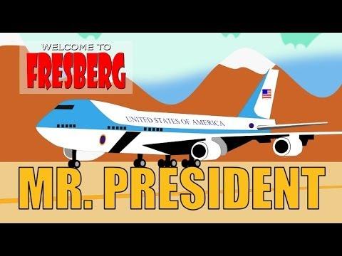 Educational Video for Children - President Comes to FresBerg - Cartoon - Barack Obama  - Fresno