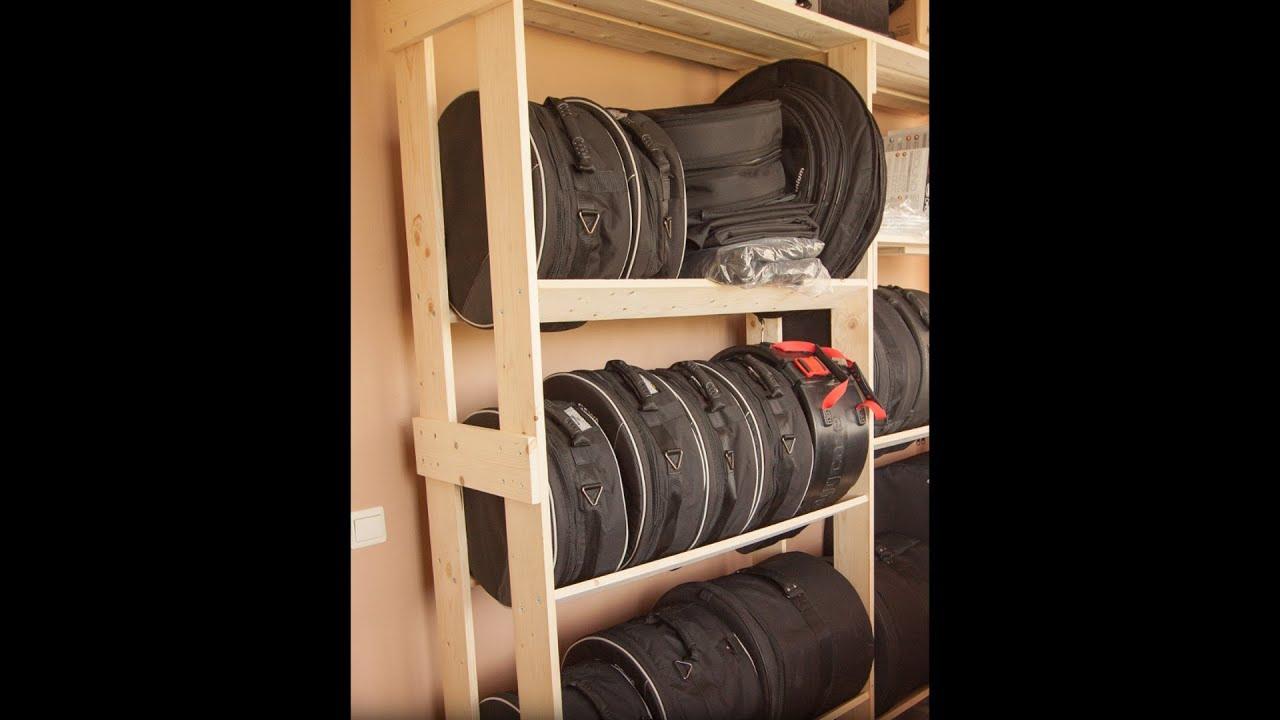 Custom Built Drums Storage Rack Youtube
