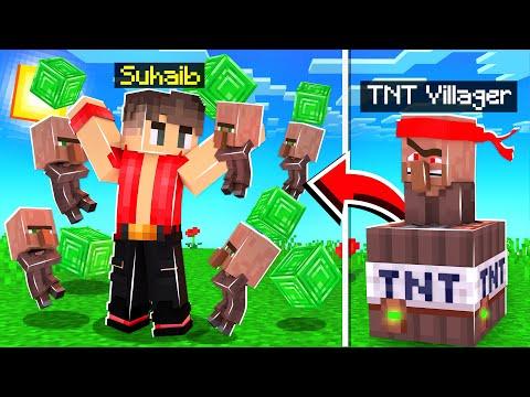 ماين كرافت قروي التفجير!💥 (العصا السحرية!)😱 - Villager TNT