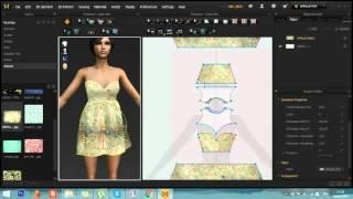 Marvelous Designer 3D speed art: Simple dress