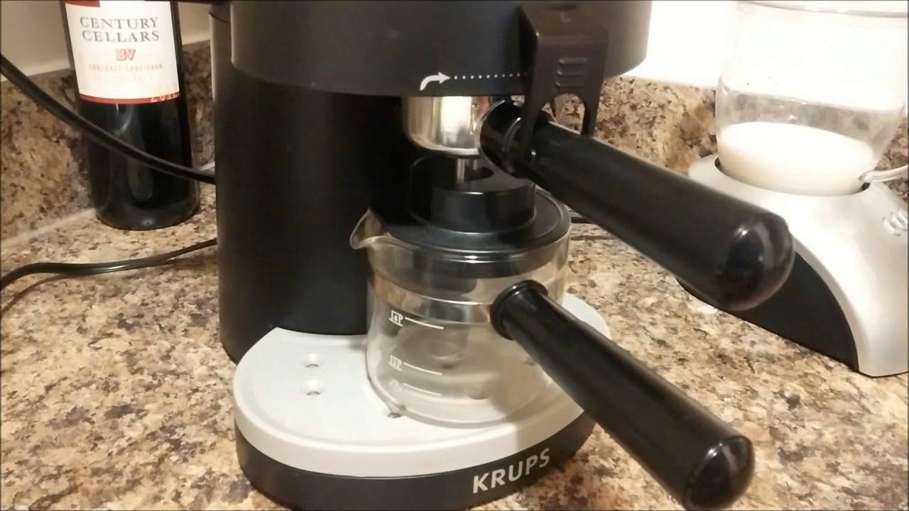 Krups Solo Steam Espresso and Capresso Milk Frother - YouTube