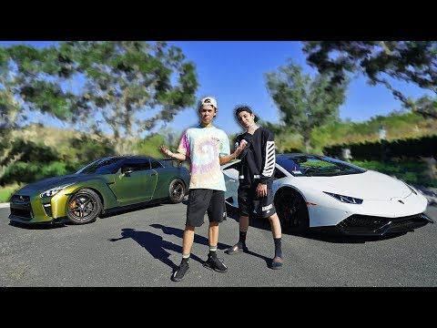 Thumbnail: LAMBORGHINI VS GTR RACE!! ($10,000 BET vs FaZe Rug)